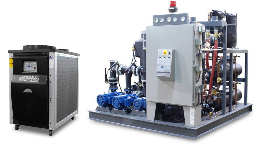 Shown Maximum Series Portable Water Chiller 10 Ton Air Cooled And Titan Central 60