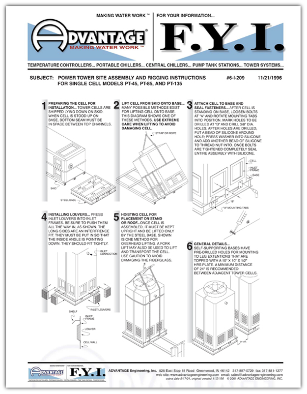 Power Tower Rigging Instructions