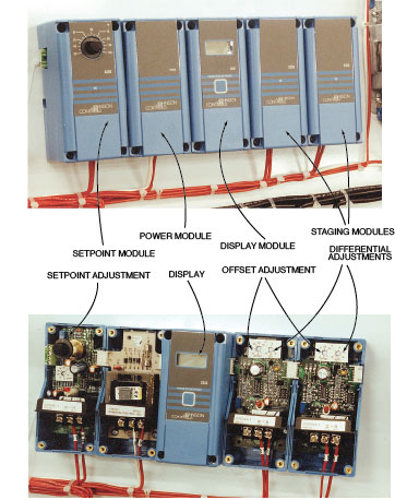 multiple stage thermostat system johnson controls a350 multi staged controller