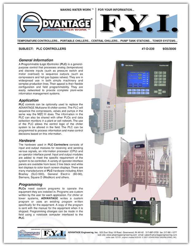 PLC Instruments For Water Chillers | Central Chillers