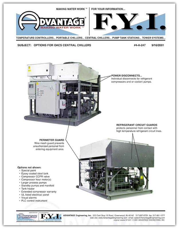 Options For OACS Central Chillers