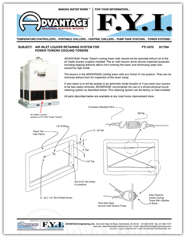 Air Inlet Louver Retaining System
