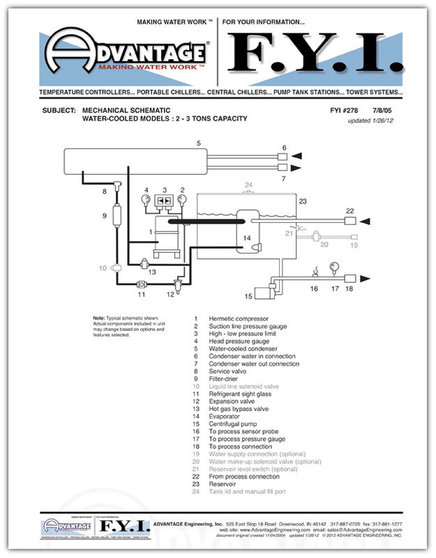 Circuit Schematic Water Chillers To 3 Tons