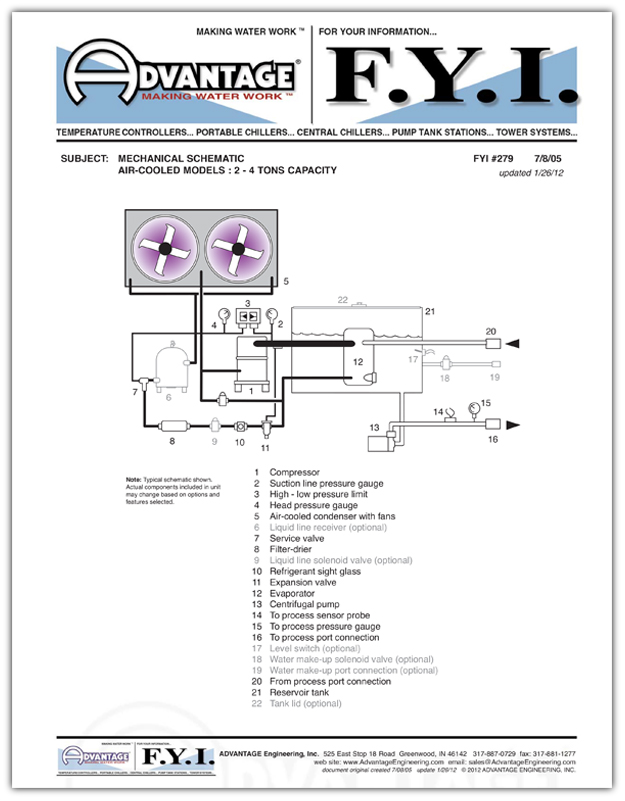 Circuit Schematic Chillers To 4 Tons