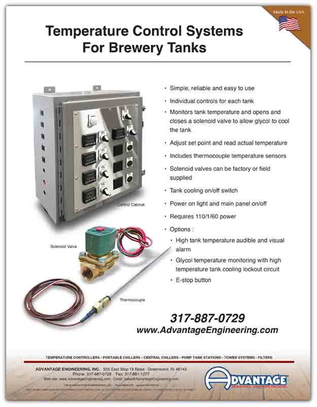 Temperature Control System for Brewery Tanks