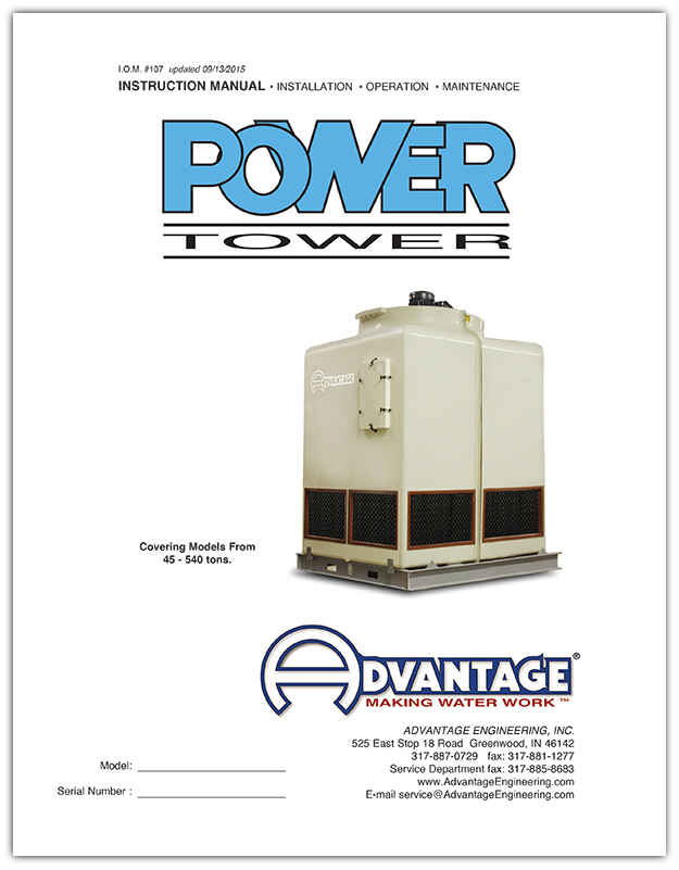 Cooling Towers Manual Power Tower Series