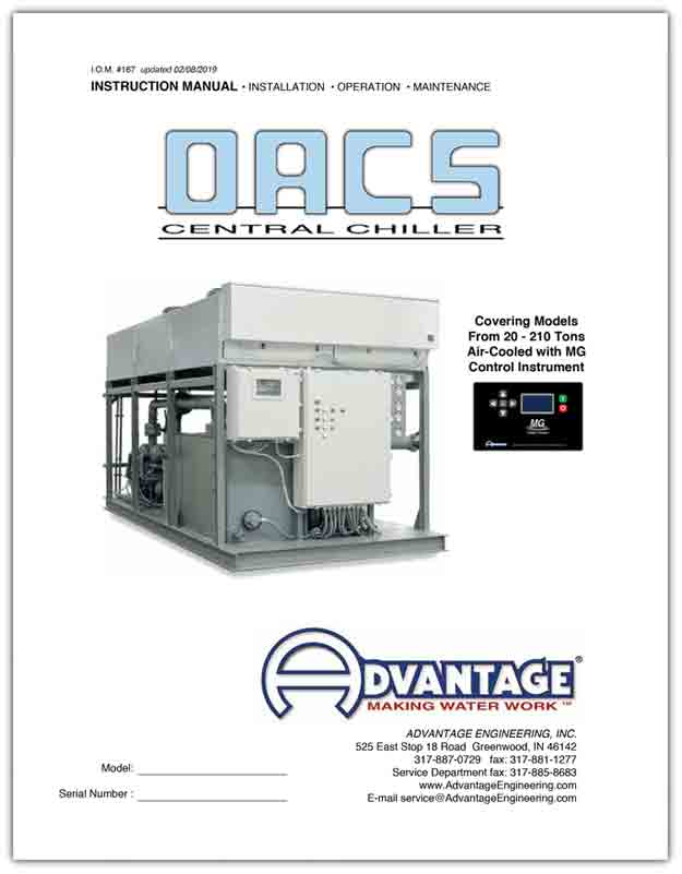 OACS Central Chiller Manual with MG Control Instrument