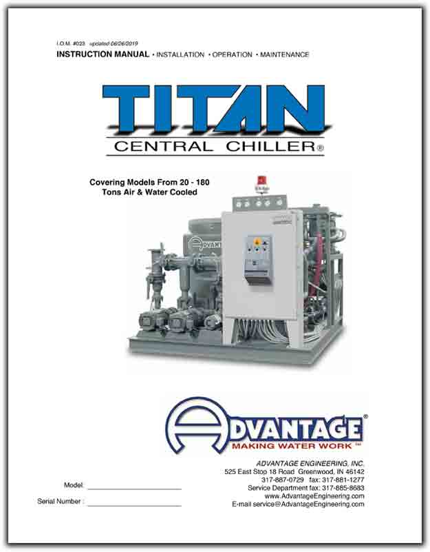 Titan Series Central Water Chiller Manual