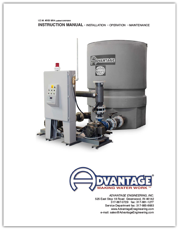 Manual for Advantage TTK Series Pump Tank Stations