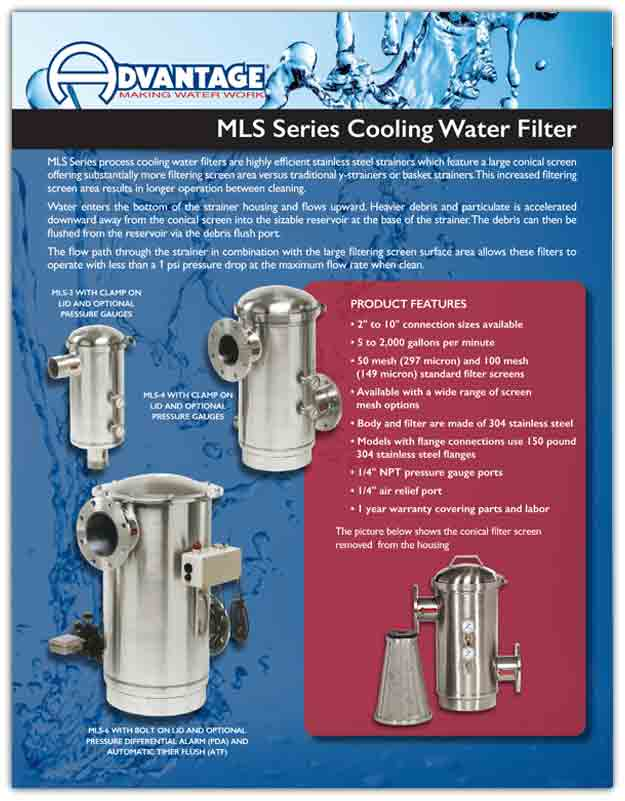 In Line Filters For Cooling System Download MLS Series Product Literature
