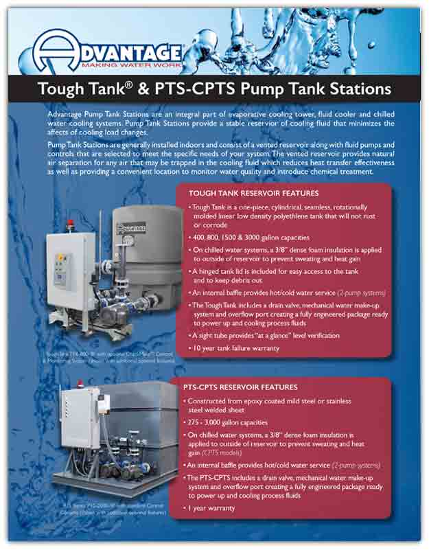Literature for Advantage Pump Tank Stations