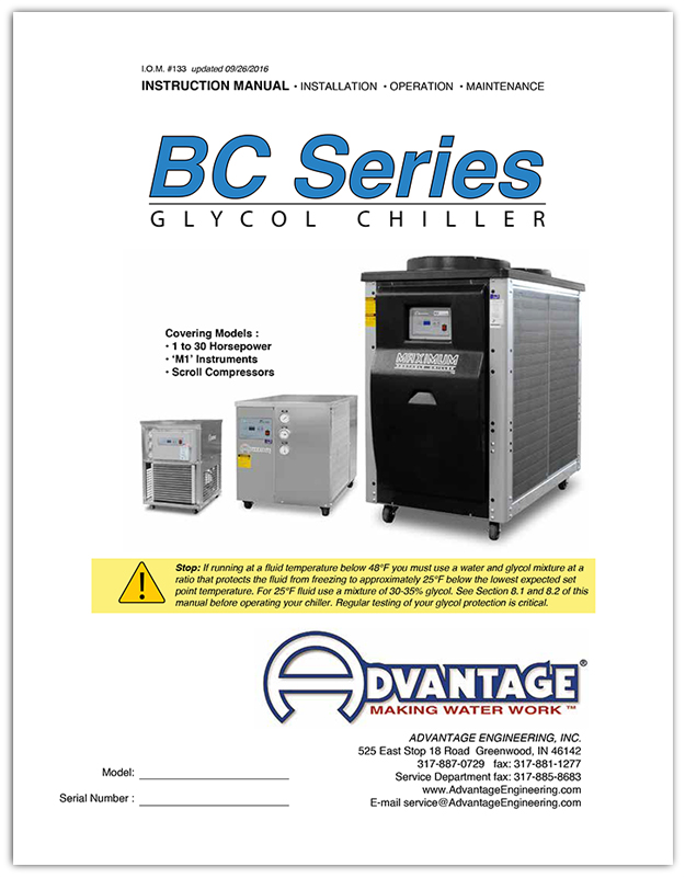 Glycol Chiller Operations Manual