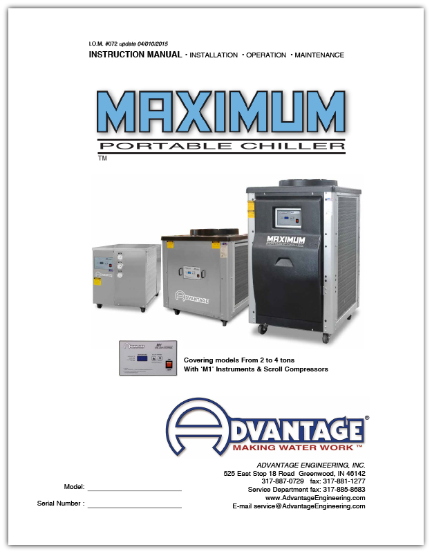 Operations Manual for Advantage Water Chillers from 5 - 40 Tons Air and Water Cooled