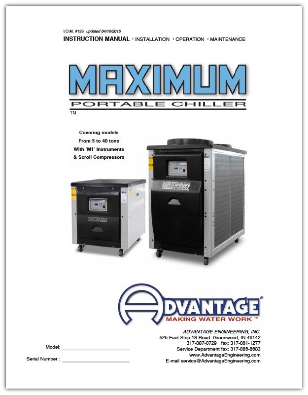 Operations Manual for Advantage Water Chillers from 2 - 4 Tons Air-Cooled