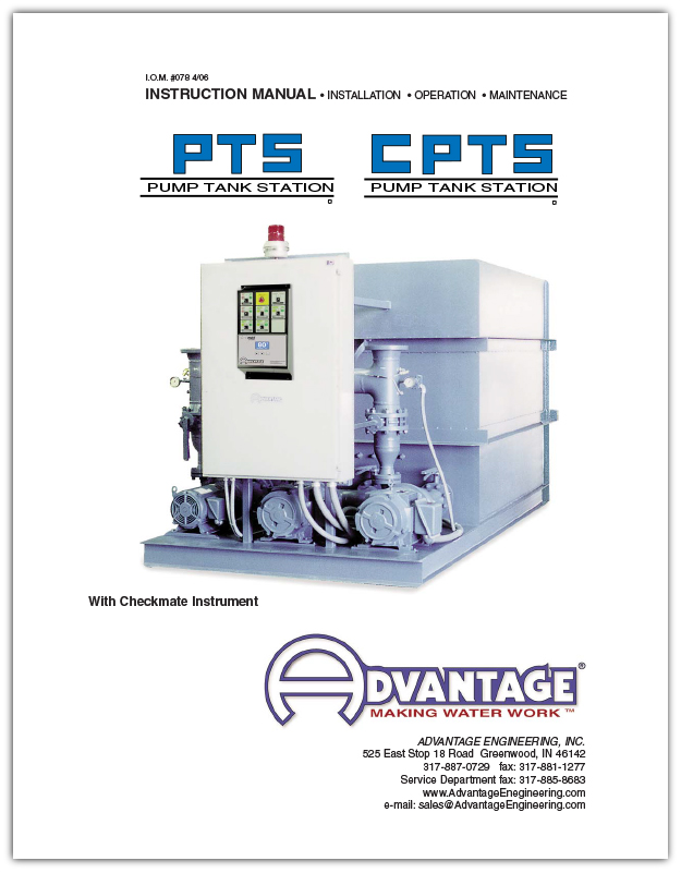 Manual for Advantage PTS / CPTS Series Pump Tank Stations