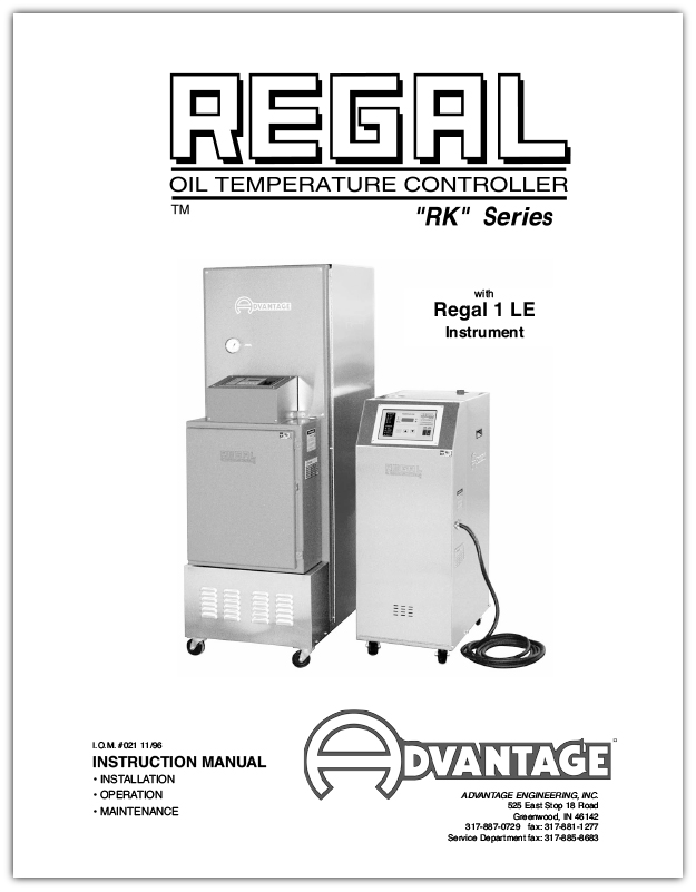 Download the Regal Series Oil Units With LE Series Instrument