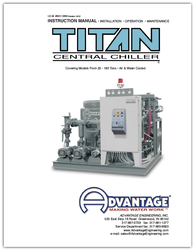 Manual for Titan Series Central Water Chillers