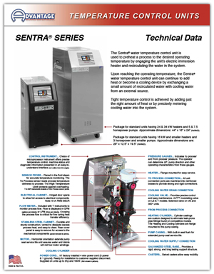 Download Sentra Temperature Control Unit Technical Data
